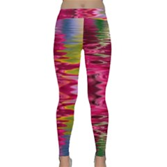 Abstract Pink Colorful Water Background Classic Yoga Leggings