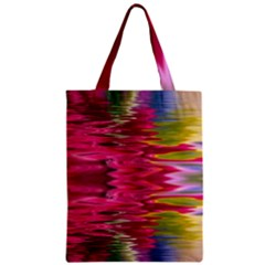 Abstract Pink Colorful Water Background Zipper Classic Tote Bag