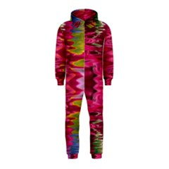 Abstract Pink Colorful Water Background Hooded Jumpsuit (kids)