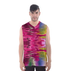 Abstract Pink Colorful Water Background Men s Basketball Tank Top