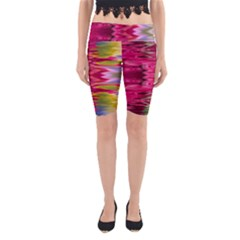 Abstract Pink Colorful Water Background Yoga Cropped Leggings