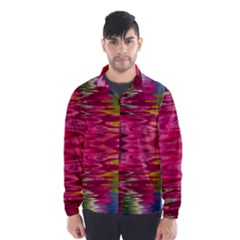 Abstract Pink Colorful Water Background Wind Breaker (Men)