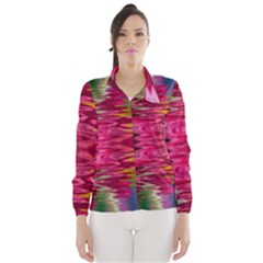 Abstract Pink Colorful Water Background Wind Breaker (women)