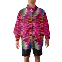 Abstract Pink Colorful Water Background Wind Breaker (kids)