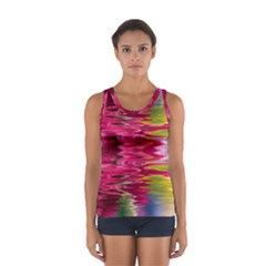 Abstract Pink Colorful Water Background Women s Sport Tank Top