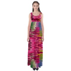 Abstract Pink Colorful Water Background Empire Waist Maxi Dress