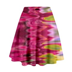 Abstract Pink Colorful Water Background High Waist Skirt