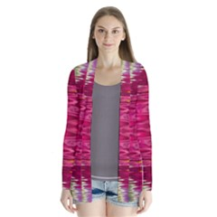Abstract Pink Colorful Water Background Cardigans
