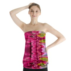 Abstract Pink Colorful Water Background Strapless Top