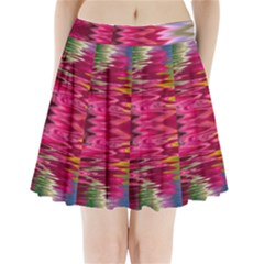 Abstract Pink Colorful Water Background Pleated Mini Skirt