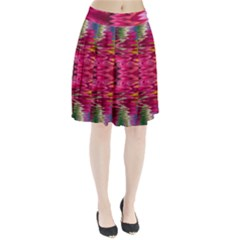 Abstract Pink Colorful Water Background Pleated Skirt
