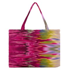 Abstract Pink Colorful Water Background Medium Zipper Tote Bag