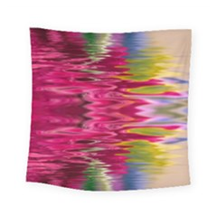 Abstract Pink Colorful Water Background Square Tapestry (small)