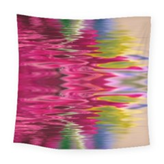 Abstract Pink Colorful Water Background Square Tapestry (large)