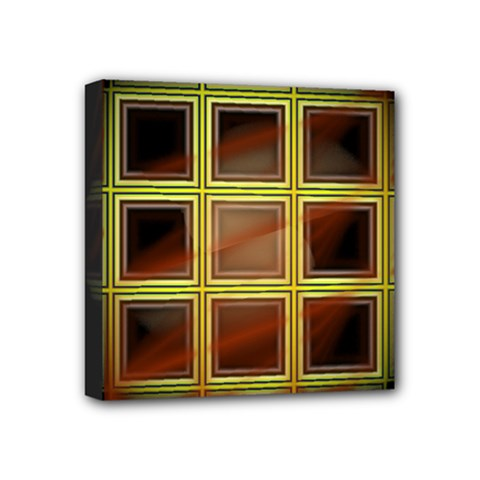Drawing Of A Color Fractal Window Mini Canvas 4  x 4
