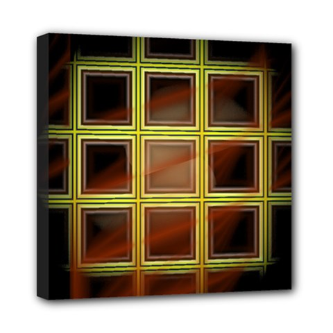 Drawing Of A Color Fractal Window Mini Canvas 8  x 8