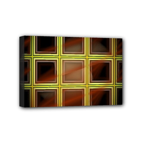 Drawing Of A Color Fractal Window Mini Canvas 6  X 4
