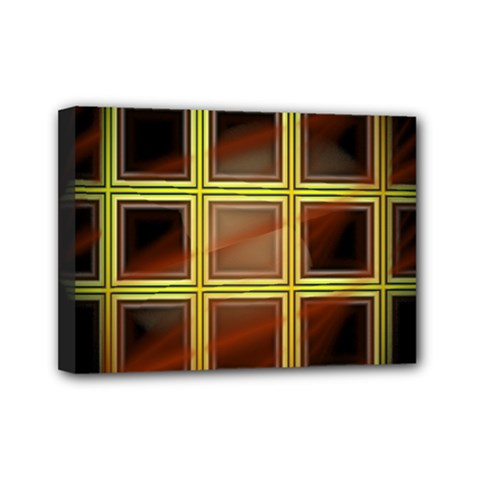 Drawing Of A Color Fractal Window Mini Canvas 7  x 5
