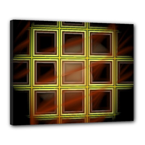 Drawing Of A Color Fractal Window Canvas 20  X 16