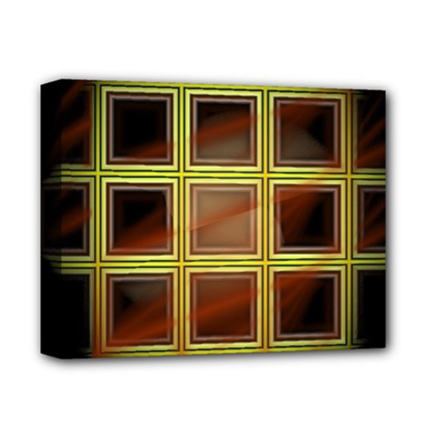 Drawing Of A Color Fractal Window Deluxe Canvas 14  x 11