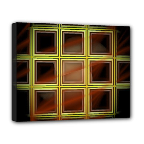 Drawing Of A Color Fractal Window Deluxe Canvas 20  X 16