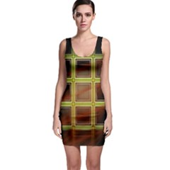 Drawing Of A Color Fractal Window Sleeveless Bodycon Dress