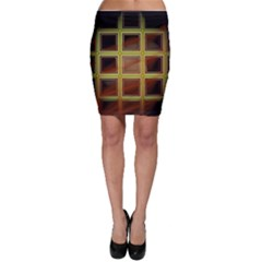 Drawing Of A Color Fractal Window Bodycon Skirt