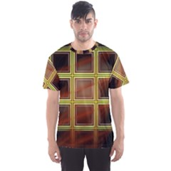 Drawing Of A Color Fractal Window Men s Sport Mesh Tee