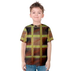 Drawing Of A Color Fractal Window Kids  Cotton Tee