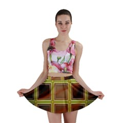 Drawing Of A Color Fractal Window Mini Skirt
