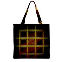 Drawing Of A Color Fractal Window Grocery Tote Bag