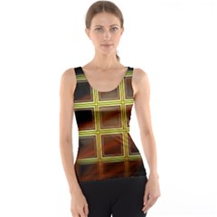Drawing Of A Color Fractal Window Tank Top