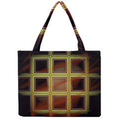 Drawing Of A Color Fractal Window Mini Tote Bag