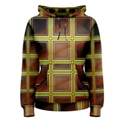 Drawing Of A Color Fractal Window Women s Pullover Hoodie
