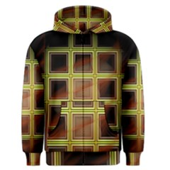 Drawing Of A Color Fractal Window Men s Zipper Hoodie