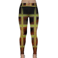 Drawing Of A Color Fractal Window Classic Yoga Leggings