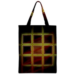 Drawing Of A Color Fractal Window Zipper Classic Tote Bag