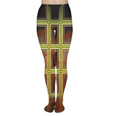 Drawing Of A Color Fractal Window Women s Tights