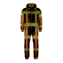 Drawing Of A Color Fractal Window Hooded Jumpsuit (Kids)