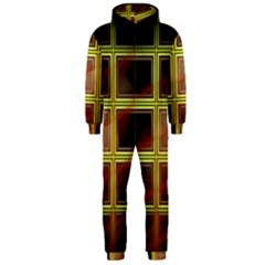 Drawing Of A Color Fractal Window Hooded Jumpsuit (men)