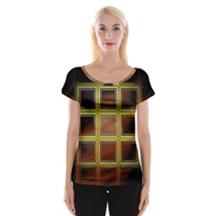 Drawing Of A Color Fractal Window Women s Cap Sleeve Top