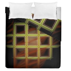Drawing Of A Color Fractal Window Duvet Cover Double Side (queen Size)