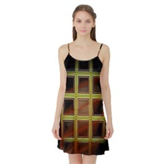 Drawing Of A Color Fractal Window Satin Night Slip