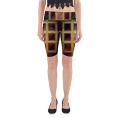 Drawing Of A Color Fractal Window Yoga Cropped Leggings