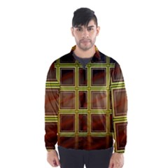 Drawing Of A Color Fractal Window Wind Breaker (Men)
