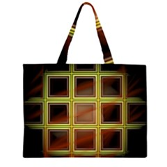 Drawing Of A Color Fractal Window Large Tote Bag