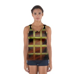 Drawing Of A Color Fractal Window Women s Sport Tank Top