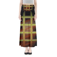 Drawing Of A Color Fractal Window Maxi Skirts