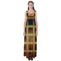 Drawing Of A Color Fractal Window Empire Waist Maxi Dress