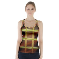 Drawing Of A Color Fractal Window Racer Back Sports Top